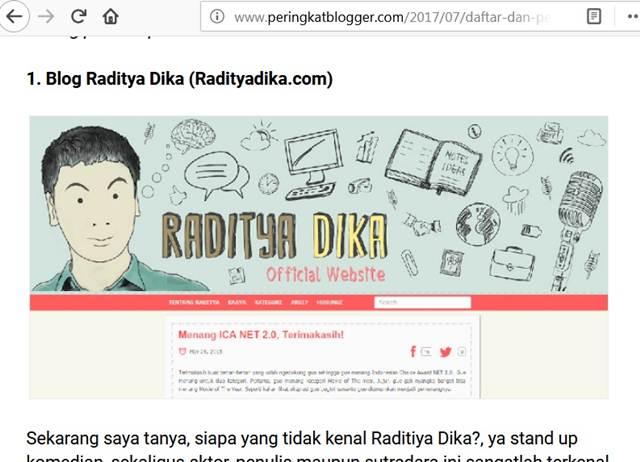 apakah raditya dika blogger terbaik indonesia
