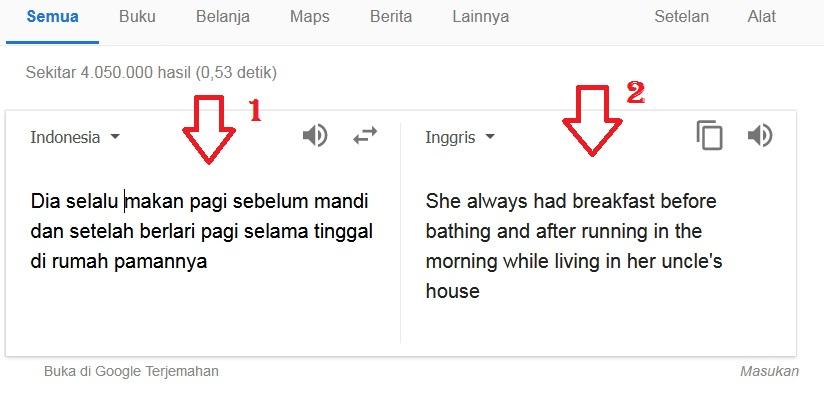 Tenses : Penyebab Terjemahan Google Translate Ke Bahasa Inggris Tidak Sempurna