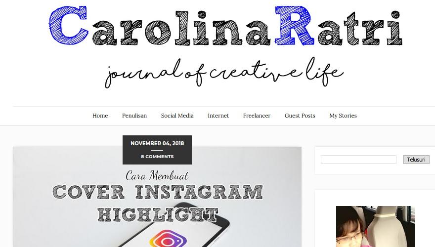 Carolina Ratri : Yuk, Belajar Ngeblog Dari Desainer !