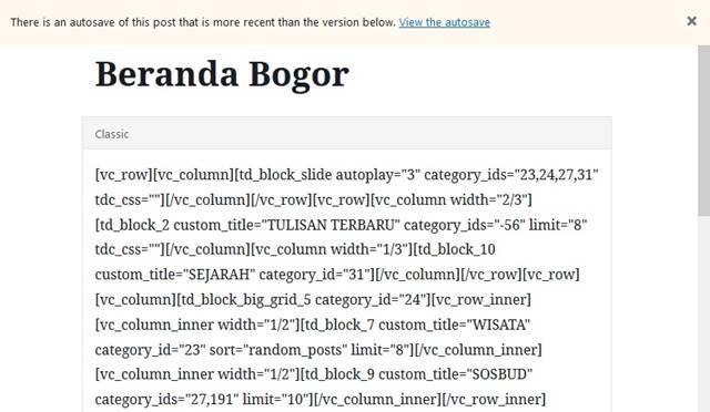 [WORDPRESS] Solusi Masalah Page-Builder Tidak Berfungsi Setelah Update WordPress 5.0