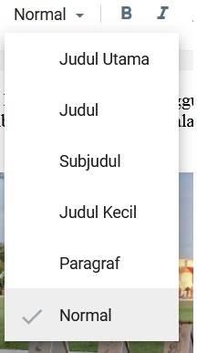 menu subheading di blogger