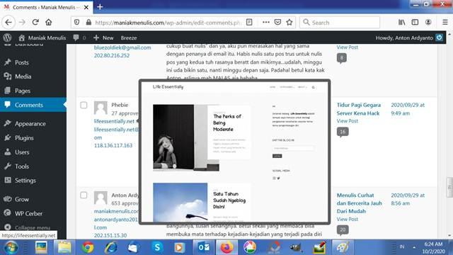 Mengecek Kolom Website di Komentar Untuk Menghindari Broken Link